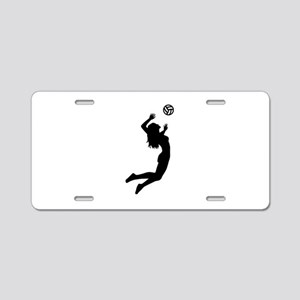 Volleyball girl Aluminum License Plate