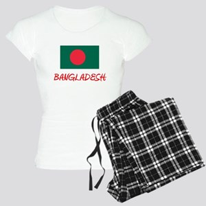 Bangladesh Flag Artistic Red Design Pajamas