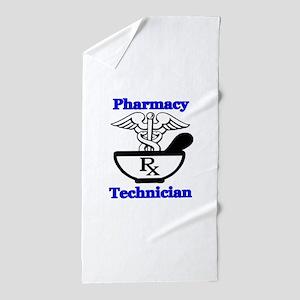 P tec1 Beach Towel
