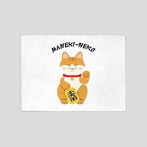 Maneki-Neko 5'x7'Area Rug