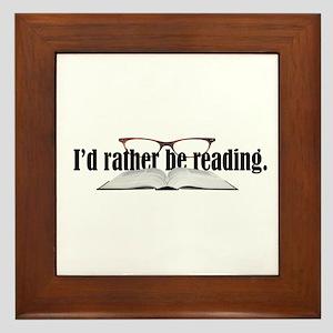 Rather Read Framed Tile