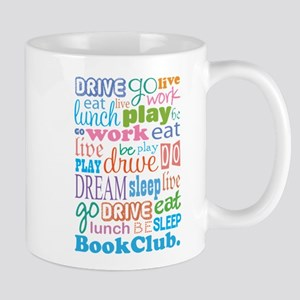 Eat Sleep Book Club Mug