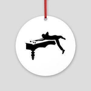 Billiards player Ornament (Round)