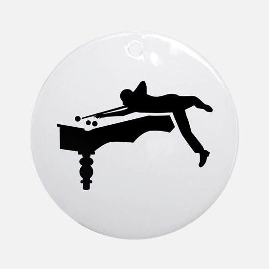 Billiards player Ornament (Round)