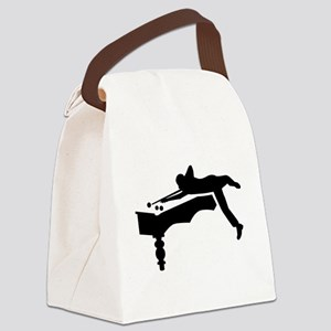 Billiards player Canvas Lunch Bag
