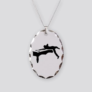 Billiards player Necklace Oval Charm