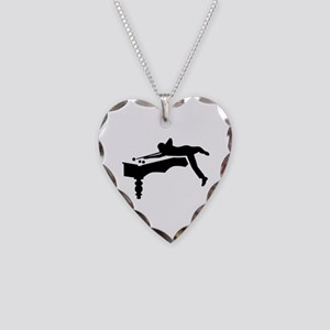Billiards player Necklace Heart Charm