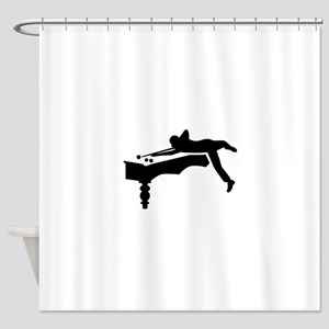 Billiards player Shower Curtain
