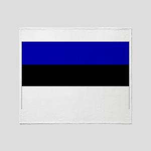 Estonia Flag Throw Blanket