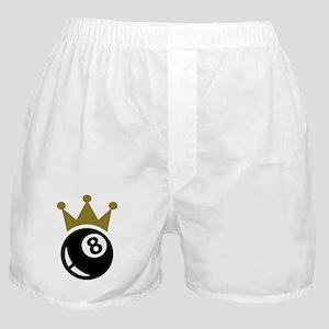 Eight ball billiards crown Boxer Shorts