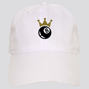 6832fcad121 Eight ball billiards crown Cap