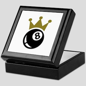Eight ball billiards crown Keepsake Box