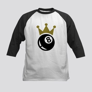 Eight ball billiards crown Kids Baseball Jersey