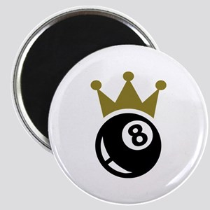 Eight ball billiards crown Magnet