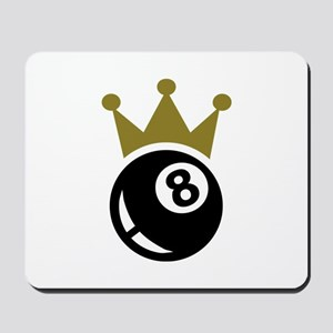 Eight ball billiards crown Mousepad