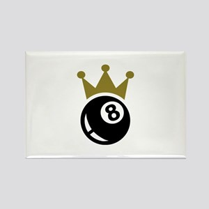 Eight ball billiards crown Rectangle Magnet