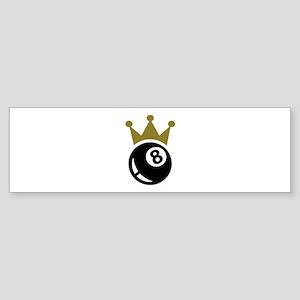 Eight ball billiards crown Sticker (Bumper)