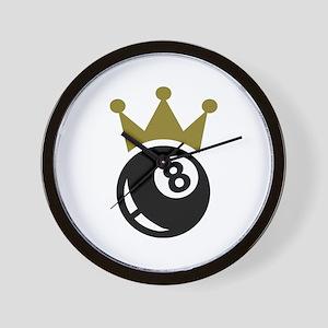 Eight ball billiards crown Wall Clock