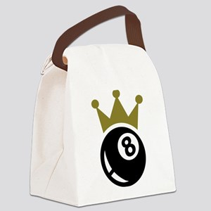 Eight ball billiards crown Canvas Lunch Bag