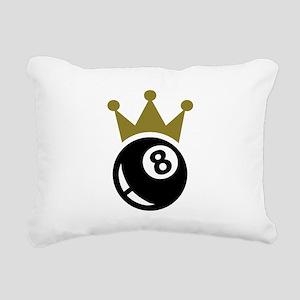 Eight ball billiards cro Rectangular Canvas Pillow