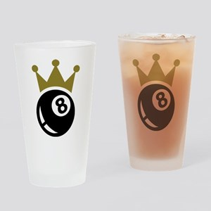 Eight ball billiards crown Drinking Glass