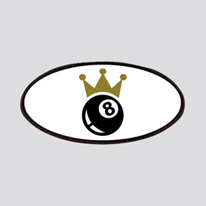 Eight ball billiards crown Patches