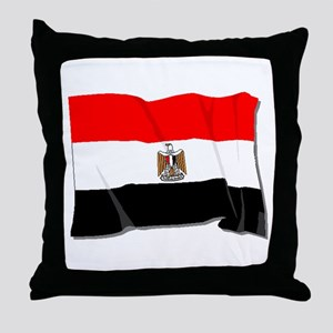 Egypt Flag Throw Pillow