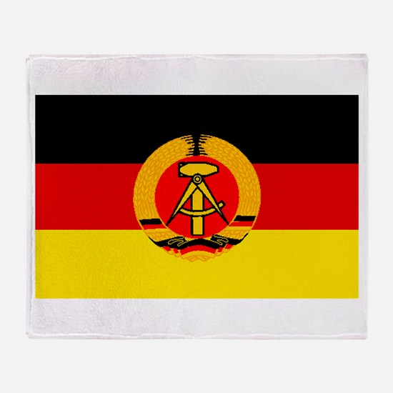 East Germany Flag Throw Blanket