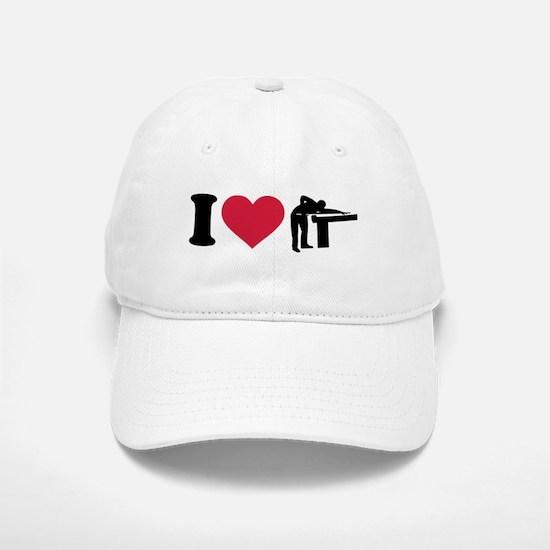 I love Billiards Player Baseball Baseball Cap