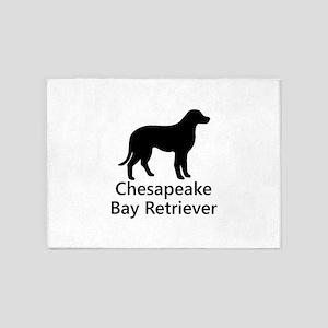Chesapeake Bay Retriever Silhouette 5'x7'Area Rug