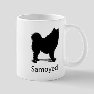 Samoyed Silhouette Mugs
