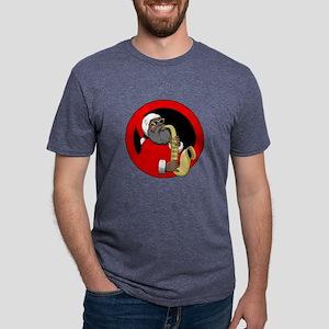 Saxophone Santa Mens Tri-blend T-Shirt