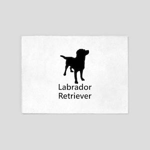 Labrador Retriever Silhouette 5'x7'Area Rug