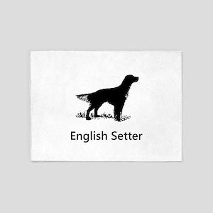 English Setter Silhouette 5'x7'Area Rug