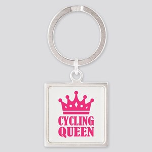 Cycling queen champion Square Keychain