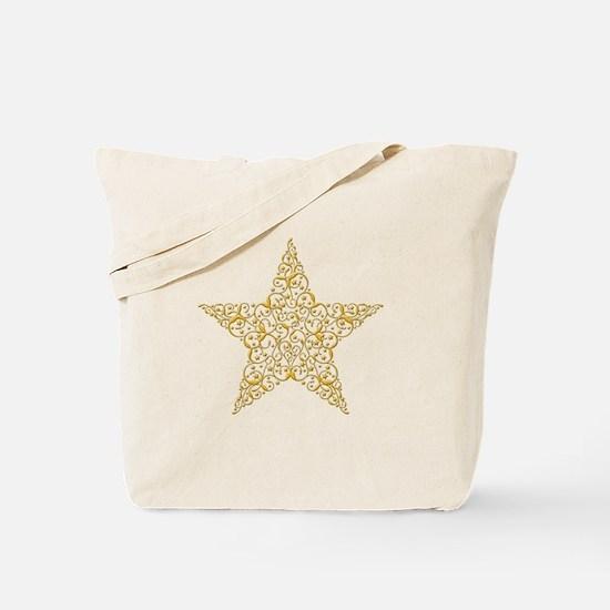 Beautiful Gold Star Tote Bag