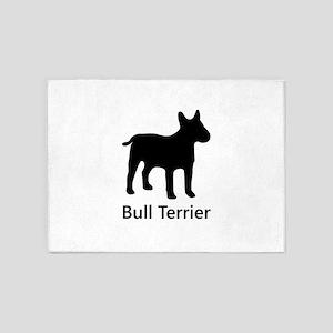 Bull Terrier Silhouette 5'x7'Area Rug