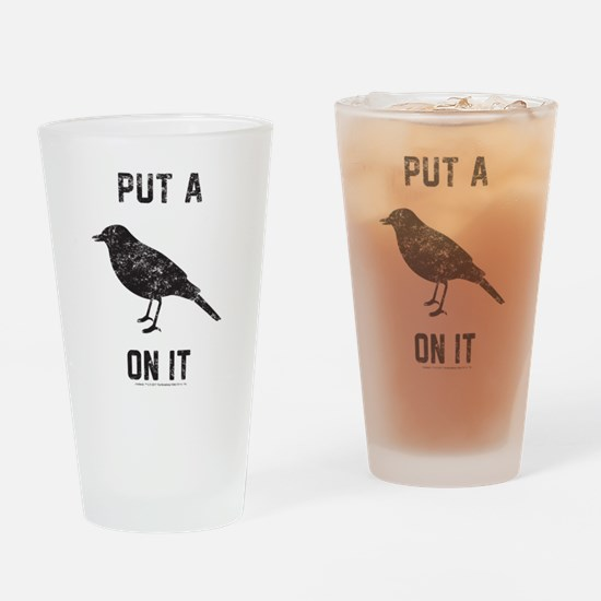 Vintage Put a bird on it Drinking Glass