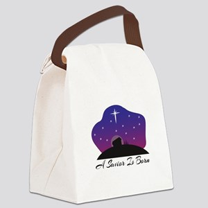Savior Is Born Canvas Lunch Bag