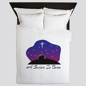 Savior Is Born Queen Duvet