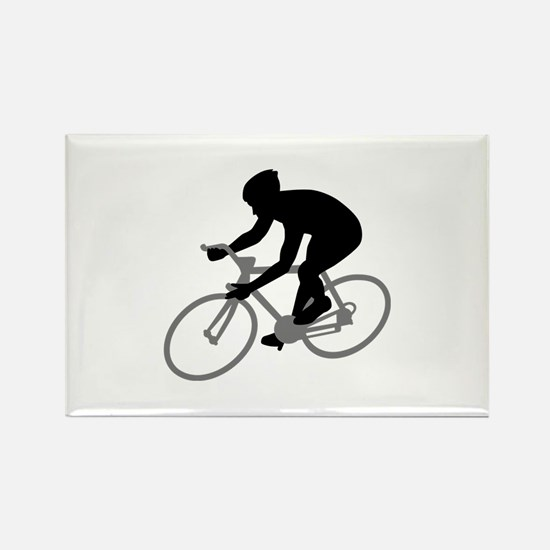 Cycling race Rectangle Magnet (10 pack)