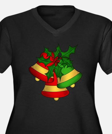 Christmas Bells and Holly Plus Size T-Shirt