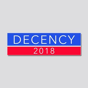 DECENCY 2018s Car Magnet 10 x 3