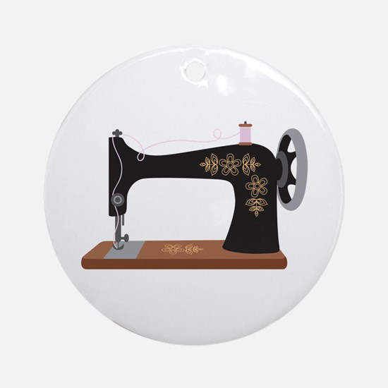 Sewing Machine 1 Ornament (Round)