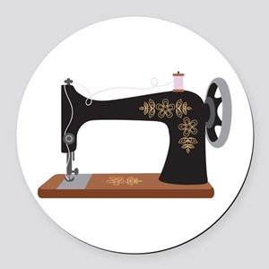 Sewing Machine 1 Round Car Magnet