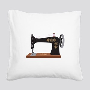 Sewing Machine 1 Square Canvas Pillow