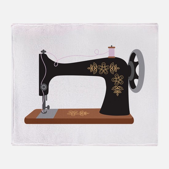 Sewing Machine 1 Throw Blanket