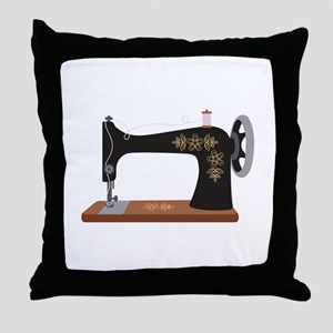 Sewing Machine 1 Throw Pillow