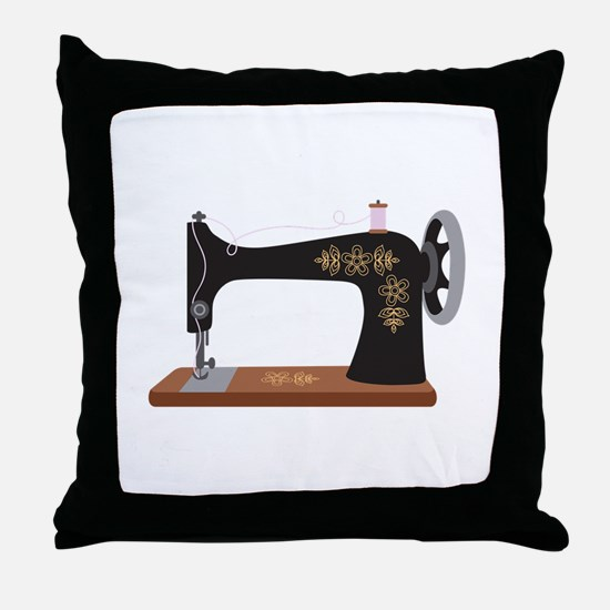 Sewing Machine 1 Throw Pillow