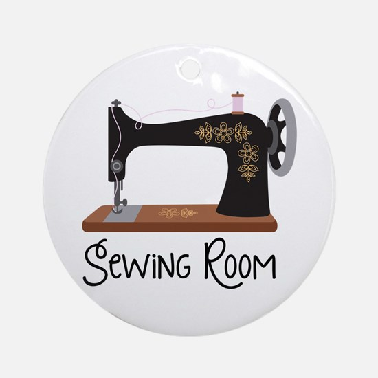 Sewing Room Ornament (Round)